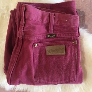Red Vintage Wrangler Jeans